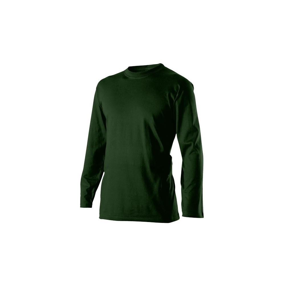 Triko pánské s dlouhým rukávem lahvově zelená