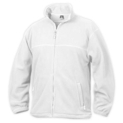 Fleece mikina unisex bílá