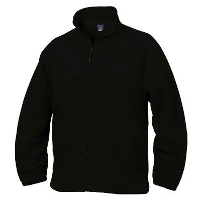 Fleece mikina unisex černá