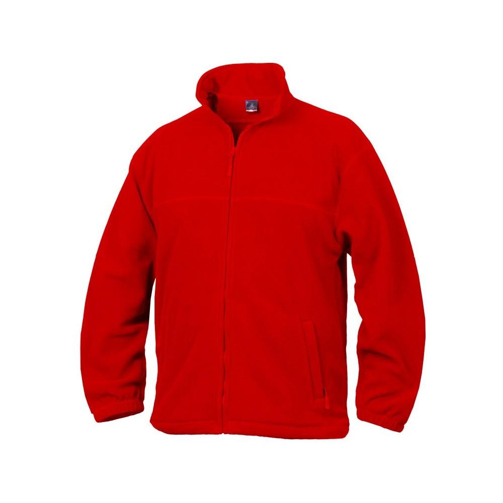 Fleece mikina unisex červená