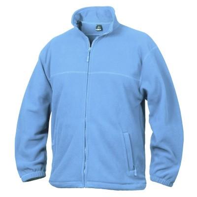 Fleece mikina unisex světle modrá