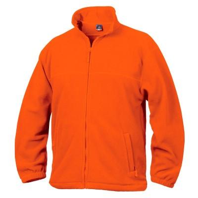Fleece mikina unisex oranžová