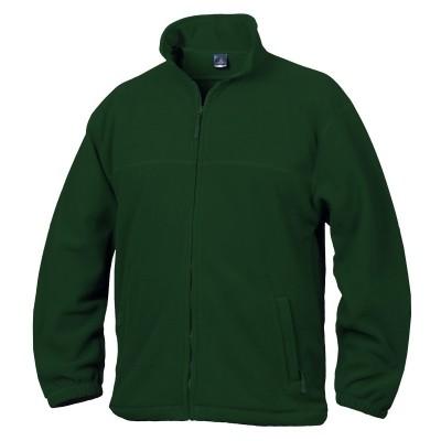 Fleece mikina unisex lahvově zelená
