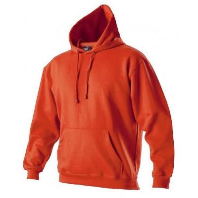 Oranžová mikina unisex s kapucí -klokanka